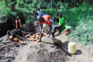 The Water Project: Emukangu Community, Okhaso Spring -  Community Help