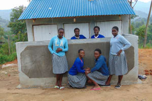 The Water Project: Dr. Gimose Secondary School -  Completed Girls Latrines