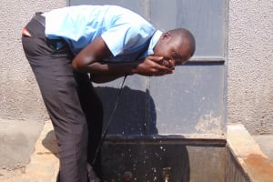 The Water Project: Hombala Secondary School -  Flowing Water
