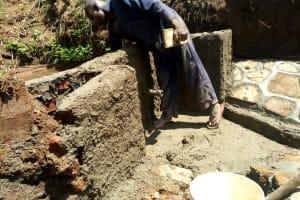 The Water Project: Ataku Community, Ngache Spring -  Wall Construction