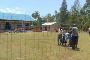 The Water Project: Bululwe Secondary School -  Preparing Tank Wall
