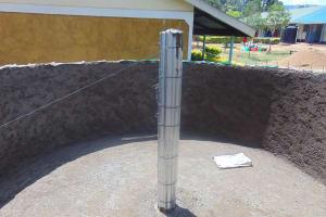 The Water Project: Kimangeti Girls' Secondary School -  Inside The Tank