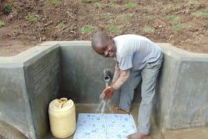 The Water Project: Emukangu Community, Okhaso Spring -  Say Cheese
