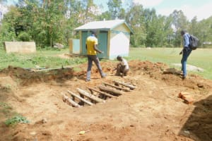 The Water Project: Eshiakhulo Primary School -  Sinking Latrine Pits