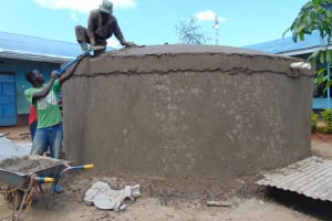 The Water Project: Hombala Secondary School -  Dome Construction