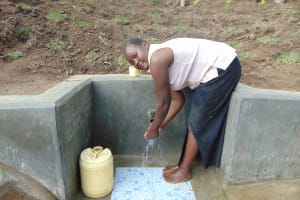 The Water Project: Emukangu Community, Okhaso Spring -  Flowing Water