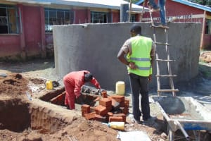 The Water Project: Mukhweya Primary School -  Work Continues