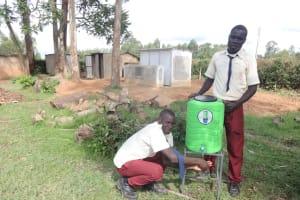 The Water Project: St. Theresa's Bumini High School -  Handwashing Station