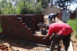 The Water Project: St. Theresa's Bumini High School -  Latrine Walls