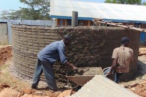 The Water Project: Imanga Secondary School -  Tank Walls