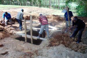 The Water Project: Kimangeti Girls' Secondary School -  Sinking Latrine Pits