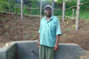 The Water Project: Emukangu Community, Okhaso Spring -  Chairman Easton Akaliche