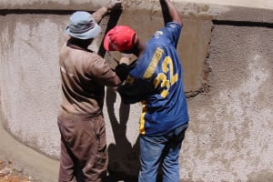 The Water Project: Dr. Gimose Secondary School -  Plaque Preparation