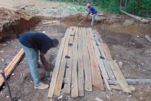 The Water Project: Kimangeti Girls' Secondary School -  Latrine Foundation