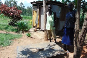 The Water Project: Emukangu Community, Okhaso Spring -  Sanitation Platform Beneficiaries