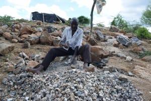 The Water Project: Kathonzweni Community -  Breaking Up Stones