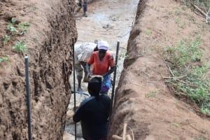 The Water Project: Kathonzweni Community -  Dam Construction
