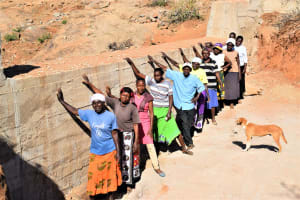 The Water Project: Kathonzweni Community -  Shg Members At The Completed Dam