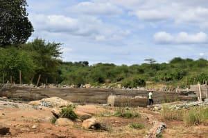 The Water Project: Mwau Community -  Dam Construction