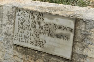 The Water Project: Mwau Community -  Plaque