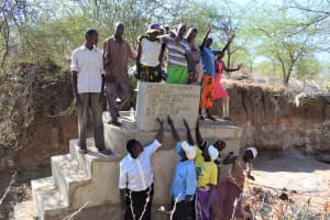 The Water Project: Kathonzweni Community A -  High Fives For The New Well