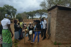 The Water Project: Kathonzweni Community A -  Tippy Tap Demonstration