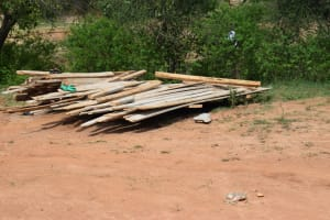 The Water Project: Mwau Community A -  Construction Materials