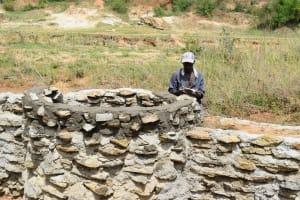 The Water Project: Mwau Community A -  Mason Works On Well