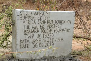 The Water Project: Mwau Community A -  Plaque