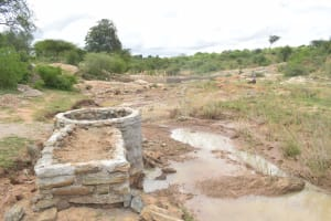 The Water Project: Mwau Community A -  Well Construction