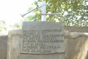 The Water Project: Kathungutu Community A -  Well Plaque
