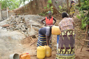 The Water Project: Kathungutu Community A -  Well Construction