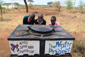 The Water Project: Kituluni Primary School -  At The New Handwashing Station