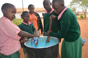 The Water Project: Kituluni Primary School -  Mixing Soap