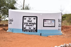 The Water Project: Kituluni Primary School -  Painted Tank