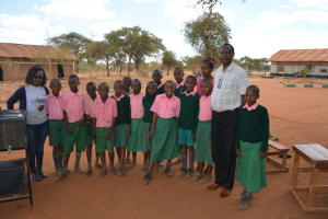 The Water Project: Kituluni Primary School -  Students And The Trainer