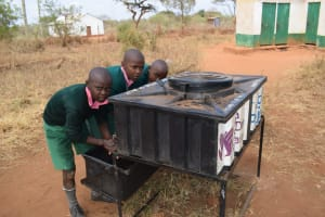 The Water Project: Kituluni Primary School -  Students Washing Their Hands