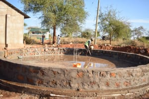 The Water Project: Kituluni Primary School -  Tank Construciton