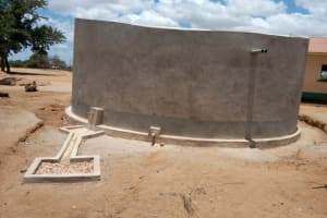 The Water Project: Kakunike Primary School -  Completed Tank