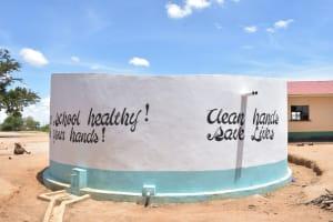 The Water Project: Kakunike Primary School -  Finished Tank