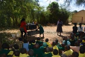 The Water Project: Kakunike Primary School -  Handwashing Demonstration