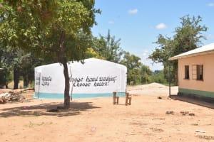 The Water Project: Kakunike Primary School -  Tank On The School Grounds