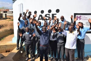 The Water Project: Kalulini Boys' Secondary School -  Celebrating The New Tank