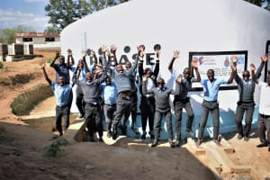 The Water Project: Kalulini Boys' Secondary School -  Celebrating The Tank