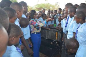 The Water Project: Kalulini Boys' Secondary School -  Handwashing Demonstration