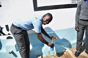 The Water Project: Kalulini Boys' Secondary School -  Smiles For Water From The Tank