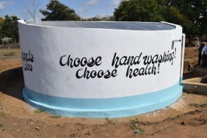 The Water Project: Kalulini Boys' Secondary School -  Tank Sign