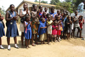 The Water Project: Tholmossor, Amputee Camp -  Children Celebrating The Well