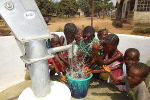 The Water Project: Tholmossor, Amputee Camp -  Children Playing At The Well