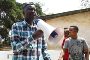 The Water Project: Tholmossor, Amputee Camp -  Counselor Abu Bakarr Koroma Making Statement